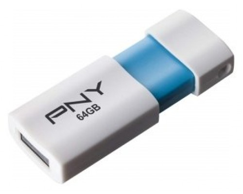 PNY 64GB Wave Attaché 2.0 unidad flash USB USB tipo A Azul, Blanco (Espera 4 dias)