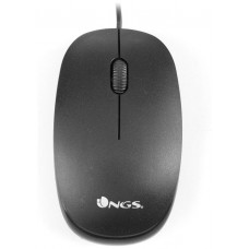 MOUSE NGS FLAME BLACK OPTICO CON CABLE
