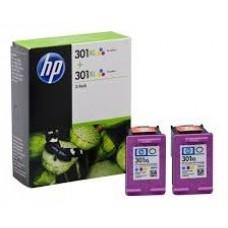 TINTA HP D8J46AE Nº 301XL PACK 2 TRICOLOR C/M/Y (Espera 4 dias)