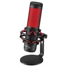 HyperX QuadCast Micrófono de superficie para mesa Negro, Rojo (Espera 4 dias)
