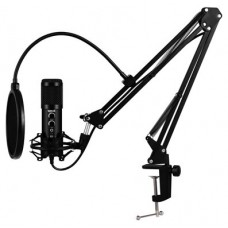 iggual Micrófono USB con brazo ajustable Pro Voice