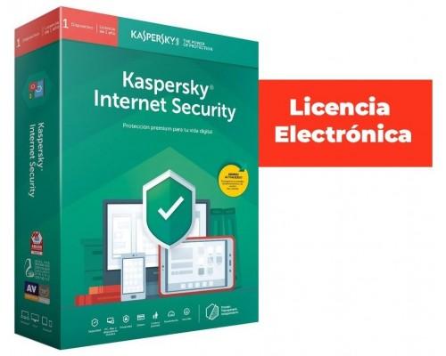 ANTIVIRUS ESD KASPERSKY 3 US INTERNET SEC LIC ELEC (Espera 4 dias)