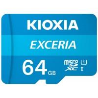 MICRO SD KIOXIA 64GB EXCERIA UHS-I C10 R100 CON ADAPTADOR