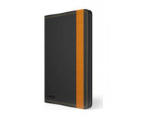 """Ziron LY028 funda para tablet 20,3 cm (8"""") Folio Negro, Naranja (Espera 4 dias)"""