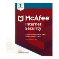 MCAFEE INTERNET SECURITY   1 DISPOSITIVO 1 ANO