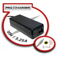 Carg. Ultrabook 20V/3.25A 7.9mm x 5.5mm 65w Pro Charger