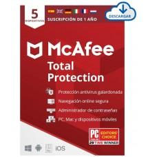 MCAFEE SAFE CONNECT PREMIUM 5 DISPOSITIVOS 1 ANO