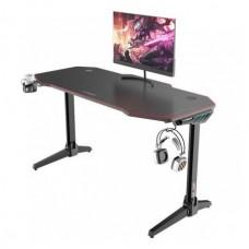 Mesa Gaming PRO800 XL Fibra Carbono / Luz RGB / Alfombrilla 140cm MUVIP (Espera 2 dias)
