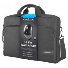 "MALETIN PORTATIL NATEC WALLAROO 15.6""+RATON WIRELESS NEGRO"
