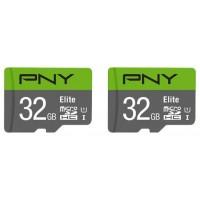 MICROSD PACK 2 x 32GB ELITE PNY (Espera 4 dias)