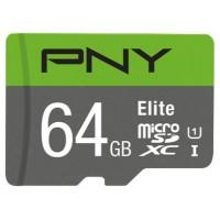 MEMORIA SD MICRO 64GB  PNY Elite microSDXC UHS-I Clase