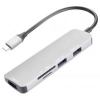 CELLY USB-C A (3)USB 3.0 Y LECTOR TARJETAS METAL (Espera 3 dias)