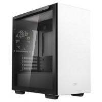 CAJA MINITORRE MICROATX MACUBE 110 WHITE TEMPERED GLASS DEEPCOOL GAMER STORM (Espera 4 dias)