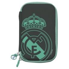 "Real Madrid Funda Disco Duro 2.5"" Negra Escudo"
