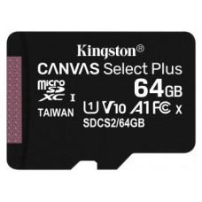 MEMORIA 64GB CANVAS SELECT PLUS MICRO SD KINGSTON (Espera 4 dias)