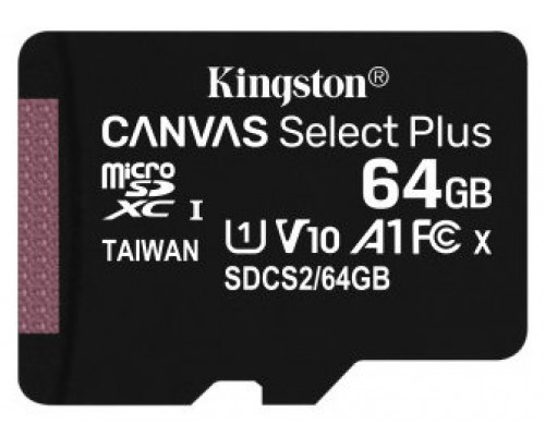 MEMORIA 64GB CANVAS SELECT PLUS MICRO SD KINGSTON (Espera 4 dias)