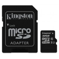 KINGSTON 32GB MICROSDHC CANVAS SELECT 80R CL10 UHS-I CARD +