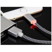 Bluestork SMART-LI-LED 1.2m USB A Lightning Negro, Plata cable USB