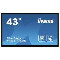 "iiyama ProLite T4361MSC-B1 monitor pantalla táctil 109,2 cm (43"") 1920 x 1080 Pixeles Multi-touch Multi-usuario Negro (Espera 4 dias)"