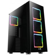 CAJA E-ATX AEROCOOL TOR USB 3.0 NEGRA 3 VENT RGB (Espera 4 dias)