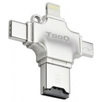 Tooq - Lector de tarjetas externo Micro SD - USB-A -