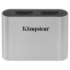 Kingston Technology Workflow microSD Reader lector de tarjeta USB 3.2 Gen 1 (3.1 Gen 1) Type-C Negro, Plata (Espera 4 dias)