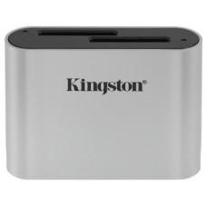Kingston Technology Workflow SD Reader lector de tarjeta USB 3.2 Gen 1 (3.1 Gen 1) Negro, Plata (Espera 4 dias)