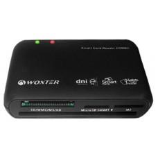 LECTOR TARJETA CHIP DNIE USB WOXTER NEGRO TR3.0 (Espera 4 dias)