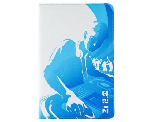 "Ziron ZR112 funda para tablet 20,3 cm (8"") Folio Azul, Blanco (Espera 4 dias)"